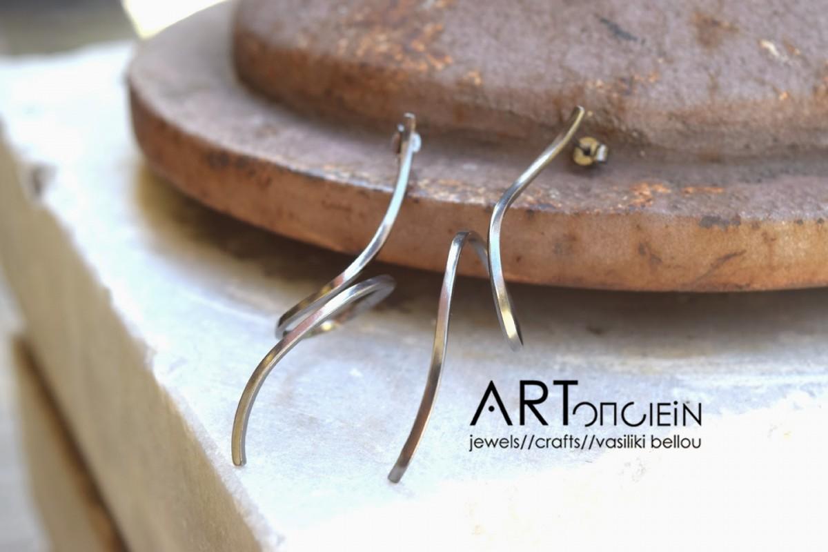 Silver earrings Artonomous