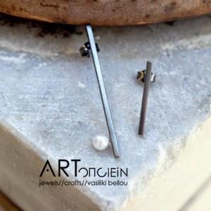Silver pearl ring Artonomous