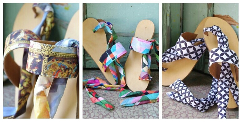 handmade leather sandals by lacrimosa design