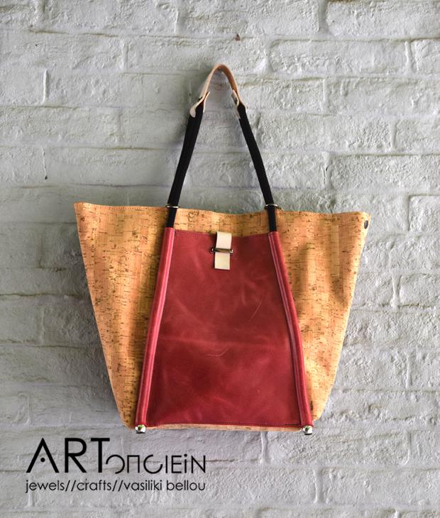 Τσάντα δέρμα και φελλός reDO Artonomous
