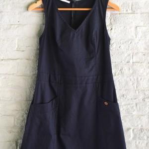 Μίνι μπλε φόρεμα με τσέπες Helmi Artonomous