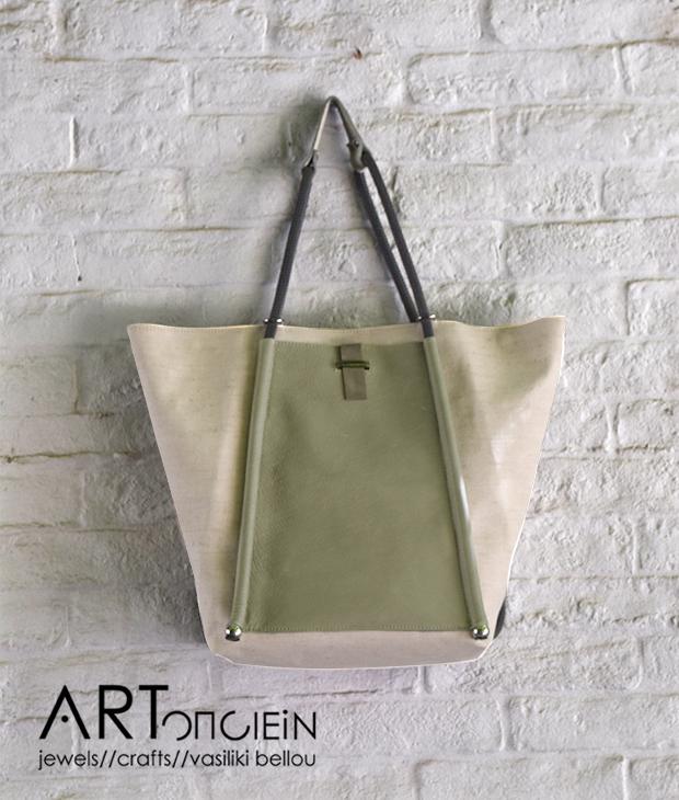 Πολυμορφική τσάντα από καμβά και δέρμα reDO Artonomous