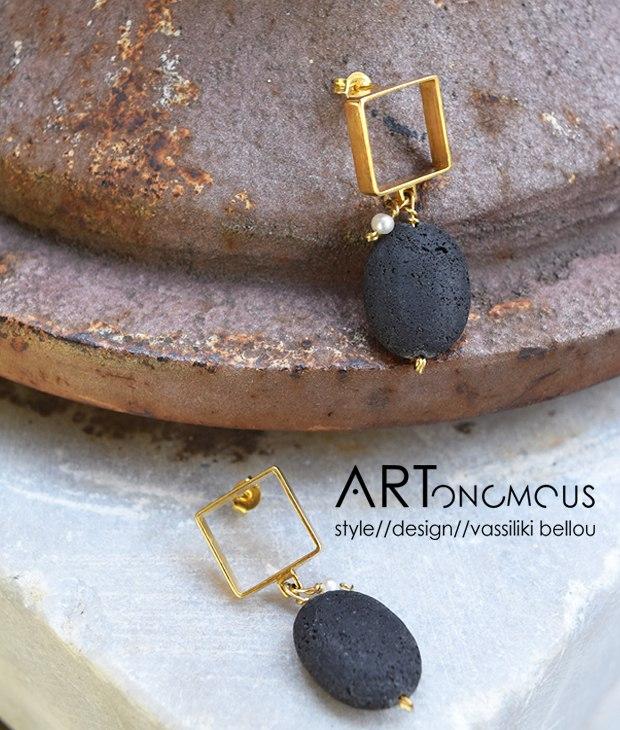 lava earrings Chrysoglou artonomous