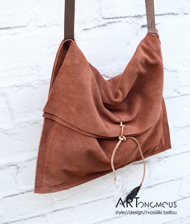 suede leather bag vinge project artonomous