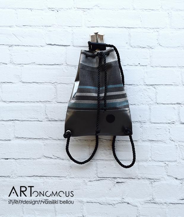 striped backpack lovely artonomous