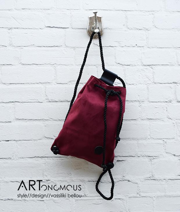 suede backpack artonomous
