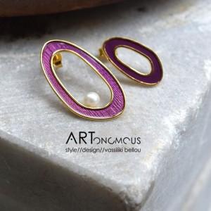 purple pearl earrings A handmade artonomous